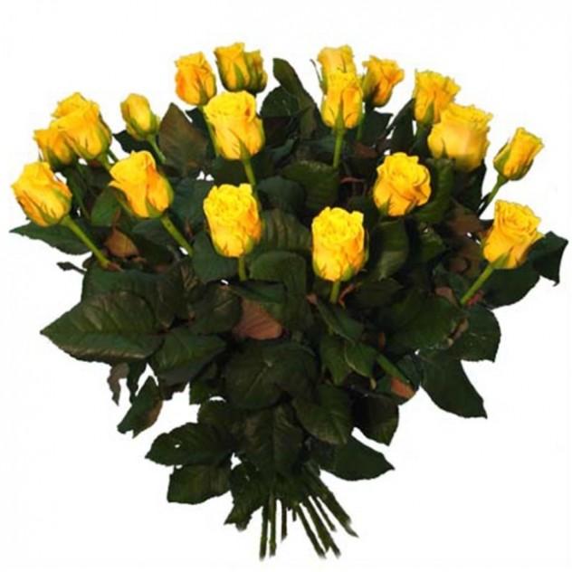 Букет из желтых роз 15 шт
