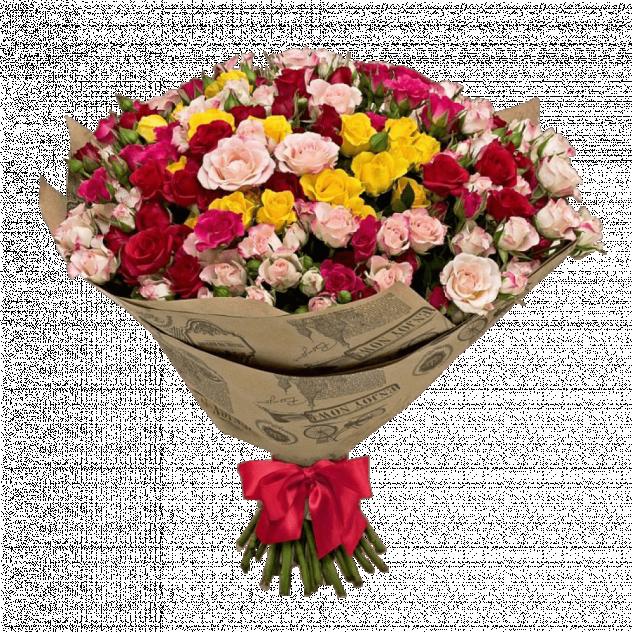 Букет из кустовых роз № 2