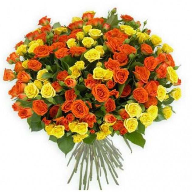 Букет из кустовых роз № 9